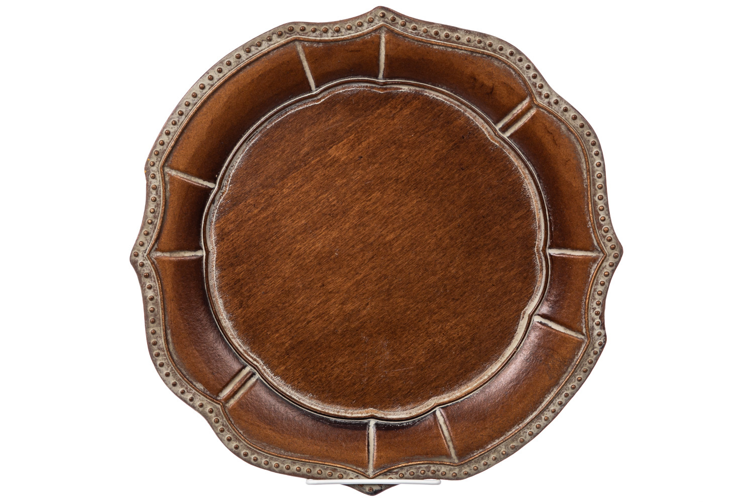 Florentine Beaded Wood Charger