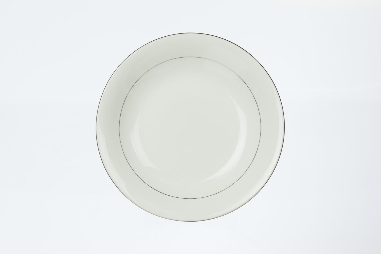 Silver Rim Soup Plate