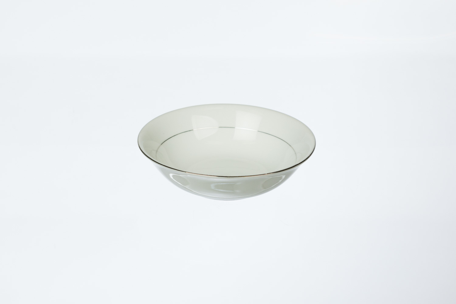 Silver Rim Cereal Bowl