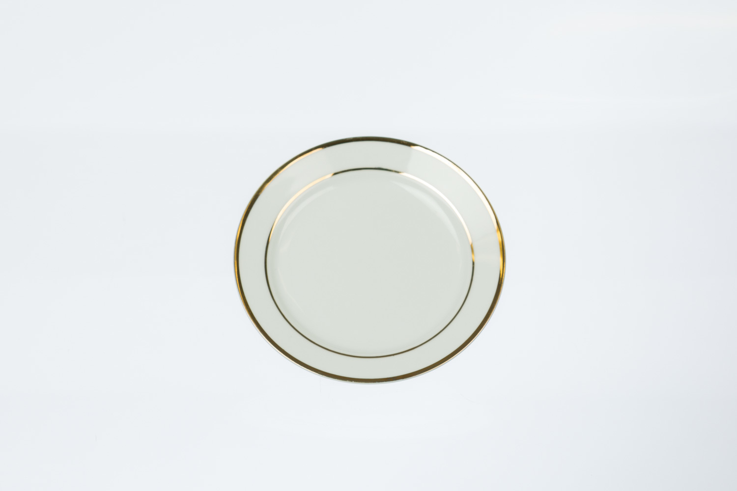 Gold Rim Bread & Butter Plate