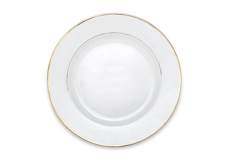 Gold Rim Chop Plate