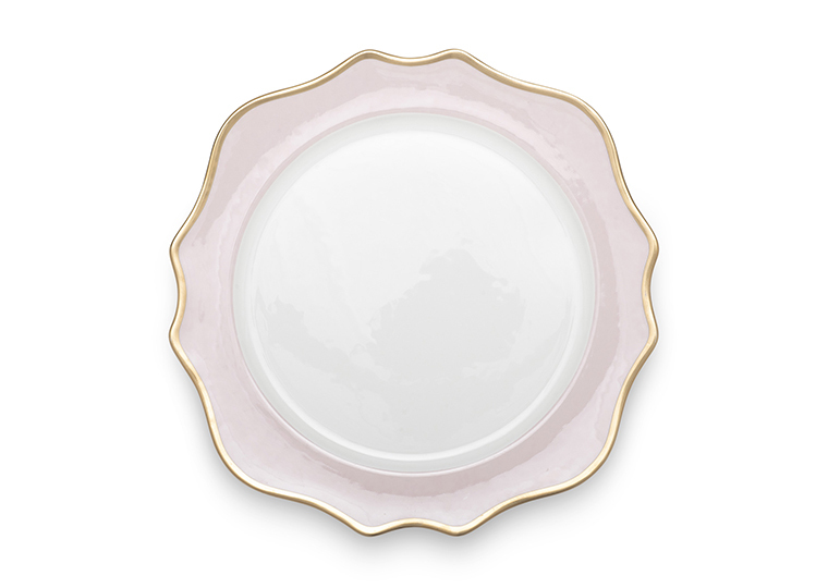 Isabella Gold Rim Blush Charger