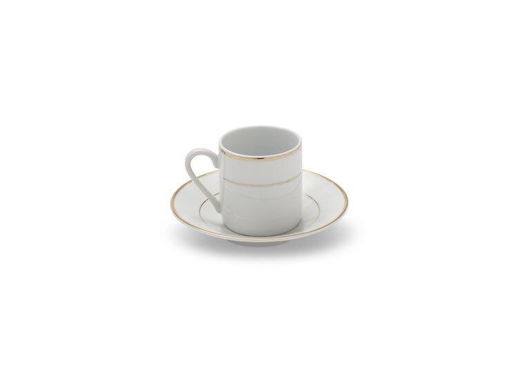 Gold Rim Demitasse Cup & Saucer