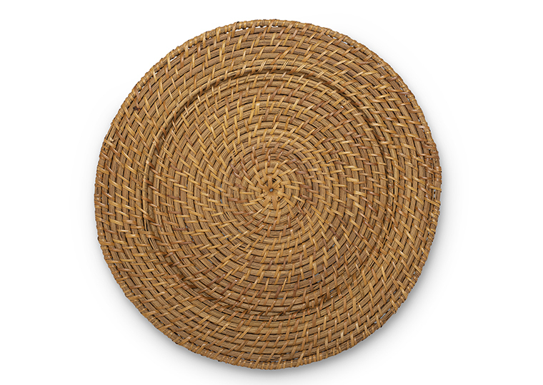 Honey Rattan Charger