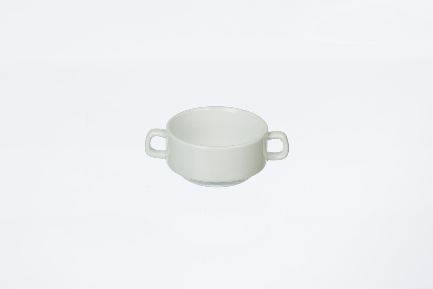Solid White Soup Tureen with handles