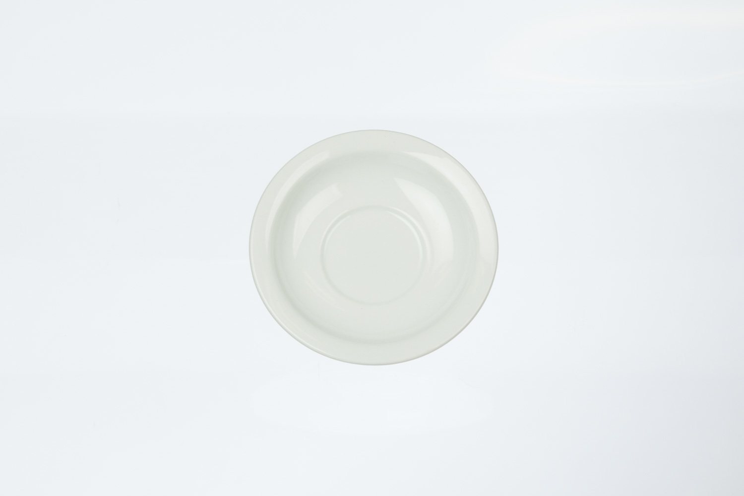 Solid White Bouillon Saucer