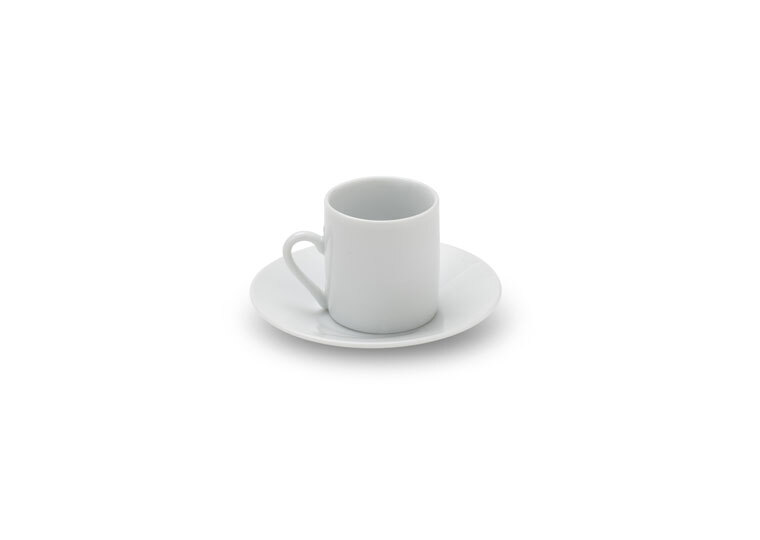 Solid White Demitasse Cup & Saucer