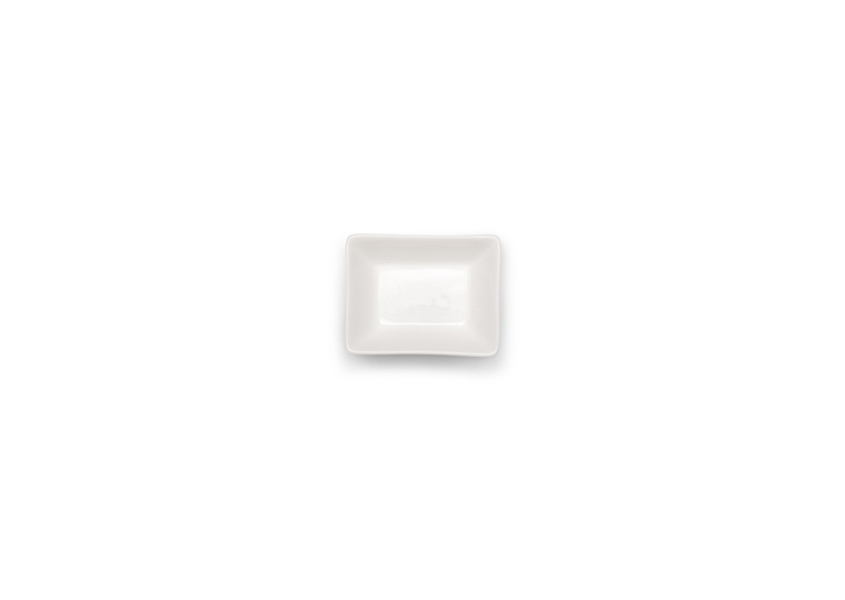 Solid White Rectangular Tapas Bowl