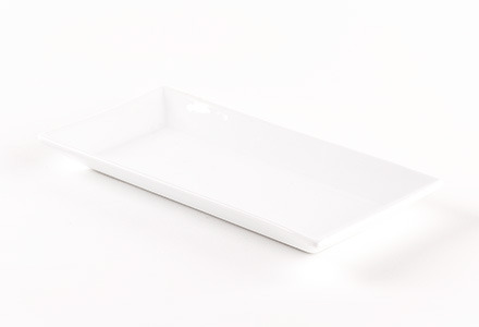 Solid White Long Rectangular Tapas Plate
