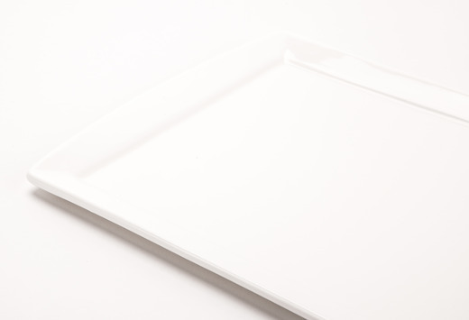 Solid White Rectangular Plate 8X13In Detail Lg Medium