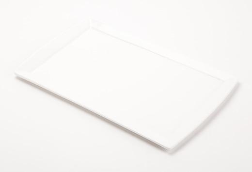 Solid White Rectangular Plate