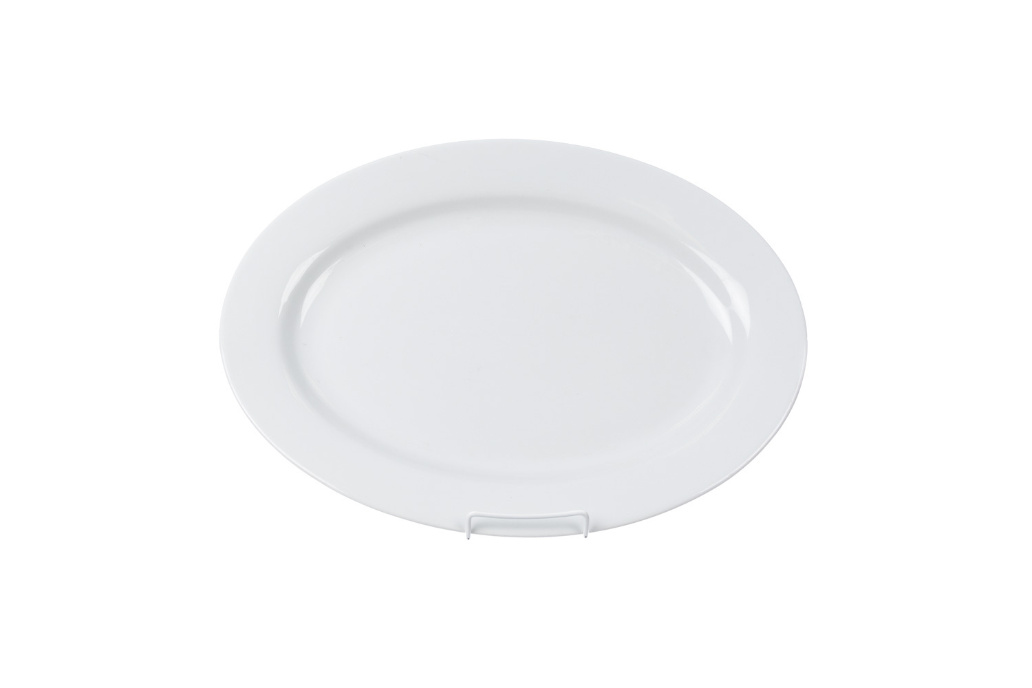 "Solid White Oval Serving Platter (13"" x 18"")"
