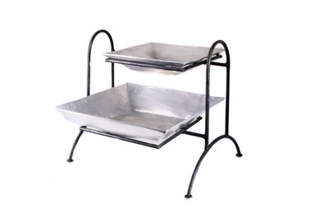 Two-Tier Pewter Chafing Dish No.9