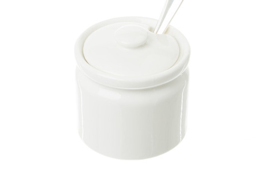 Solid White Sugar Bowl Medium