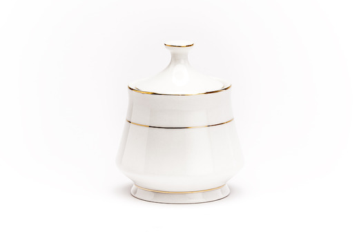 Gold Rim Sugar Bowl Lg Medium