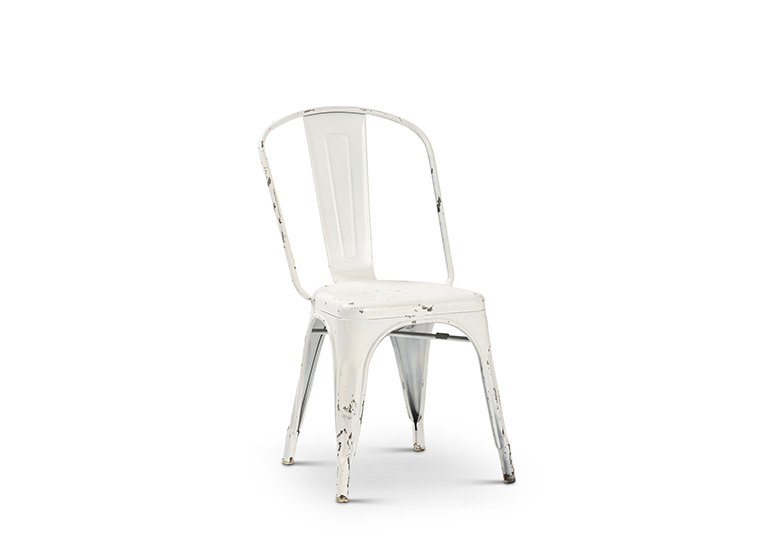 White Industrial Elio Chair