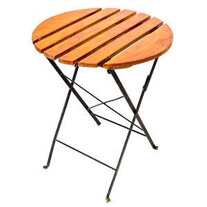 Eros Wood Steel Folding Table