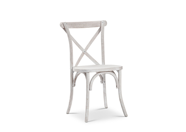 White X-Back Farm Chair