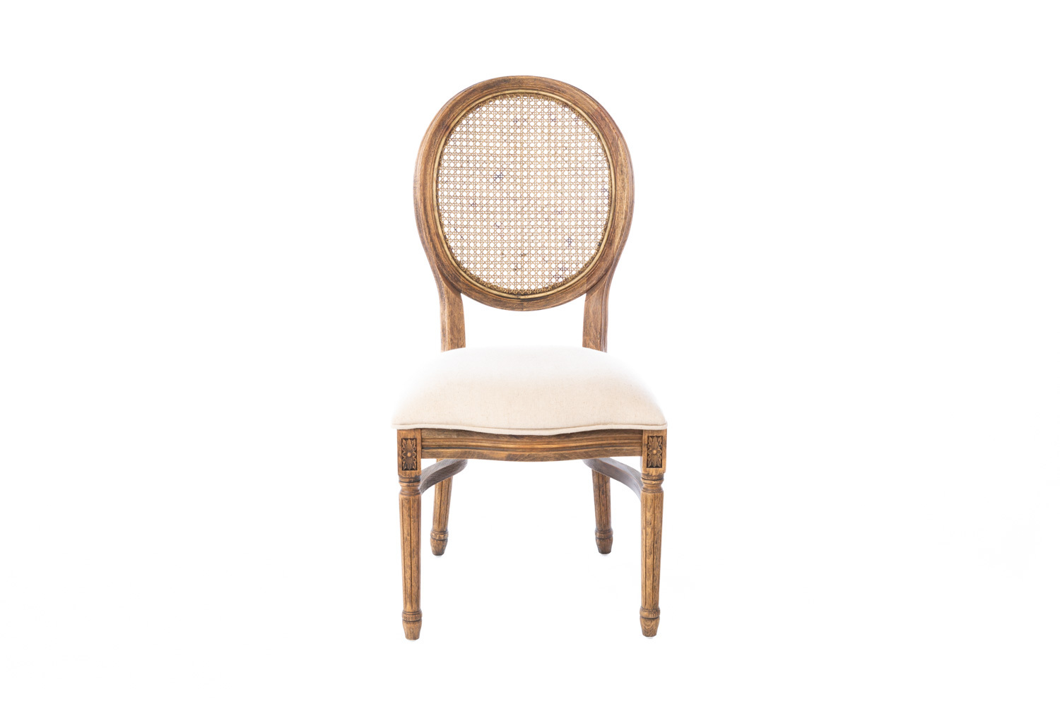 Cane Back Medallion Chair