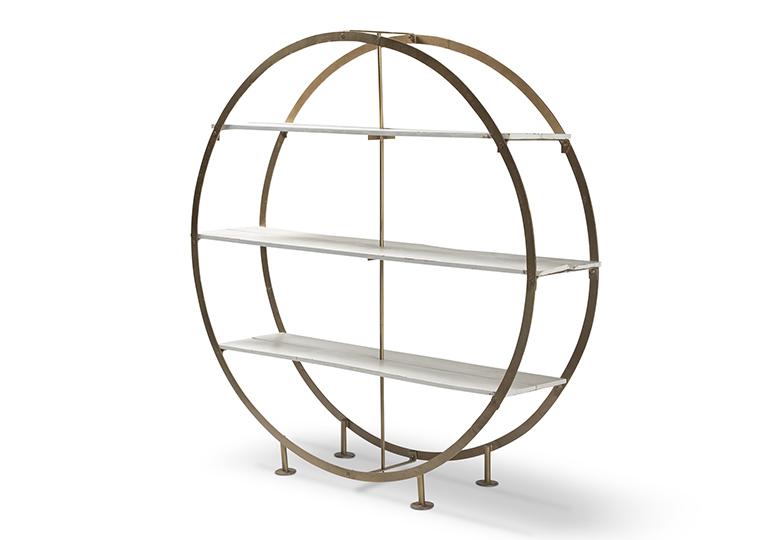Olivia Round Bookcase - GOLD