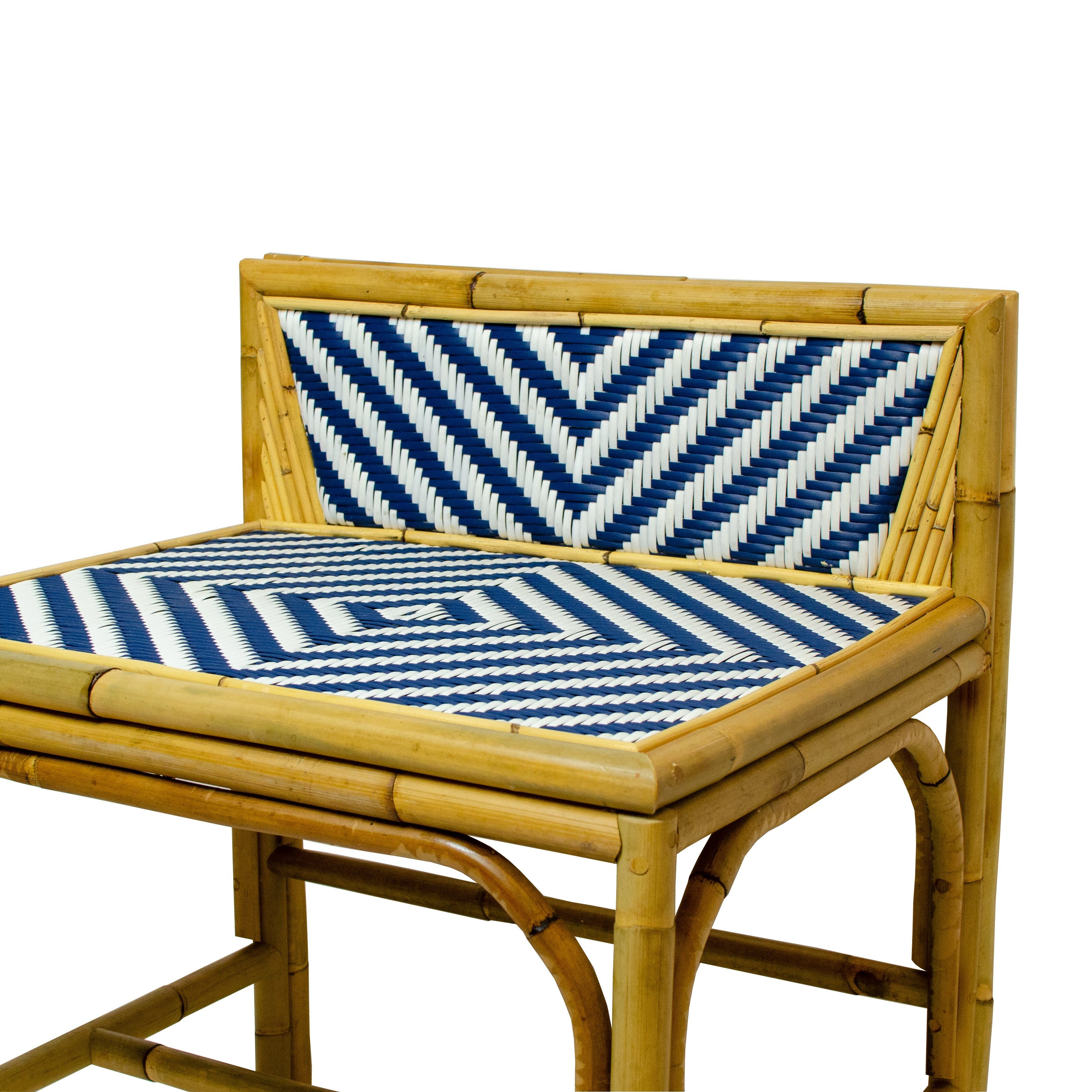 Low Back Rattan Chair Detail