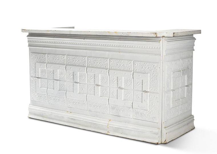 Vintage Ceiling Tile Bar - White