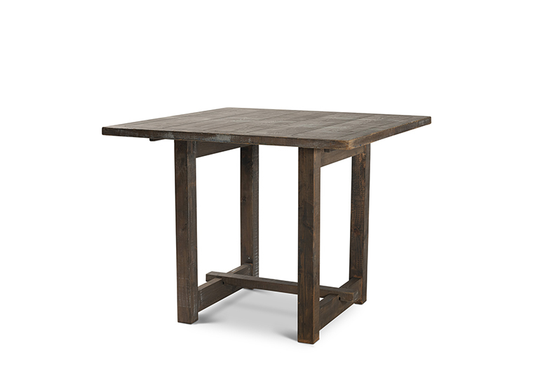 Square Driftwood Pub Farm Table