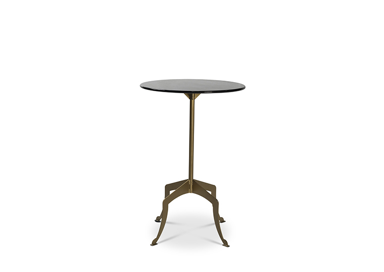 Eleanor Gold Cocktail Table -  Black Top