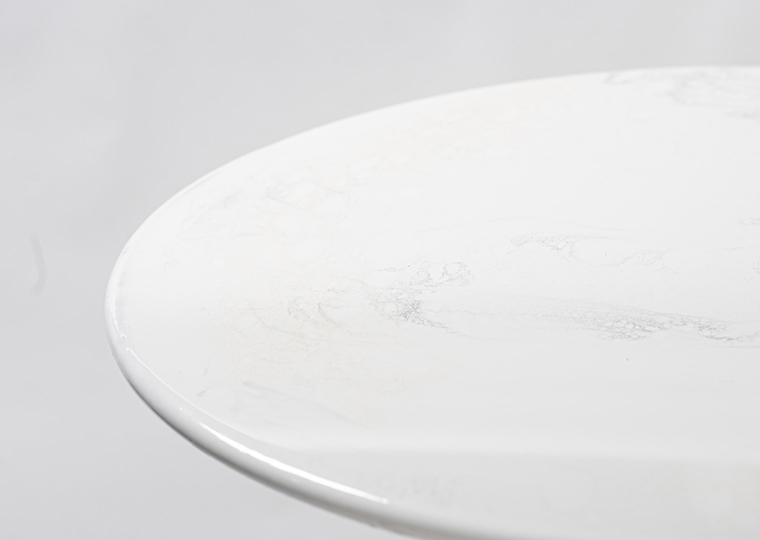 Eleanor Gold Cocktail Table -  White Top