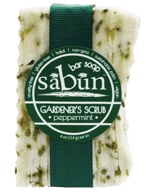 Photo front of Sabun Garderner's Scrub-Peppermint by Soapy Soap Company