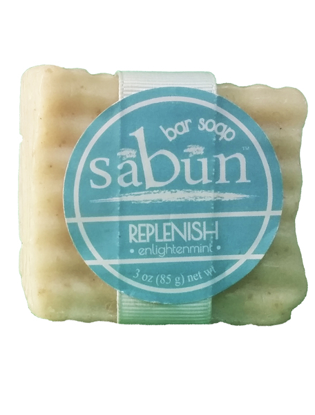 Sabun Enlightenmint bar soap by Soapy Soap Company - Front View Photo