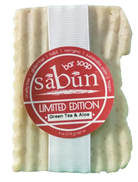 Sabun Green Tea and Aloe Bar Soap - by Soapy Soap Company - Front View Photo