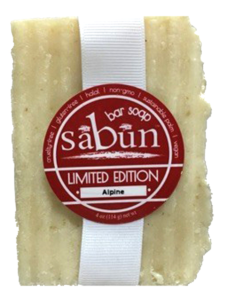 Alpine - Peppermint Fir Needle Mint Bar Soap.