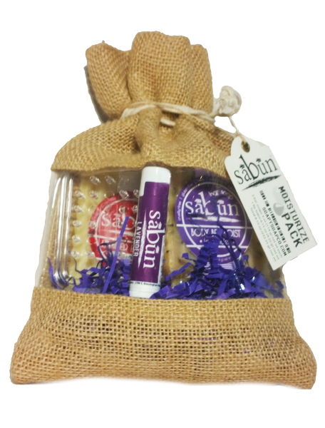 Sabun Moisturize Gift Pack of Bar Soaps and Lip Balm by Soapy Soap Company - Front View Photo 4