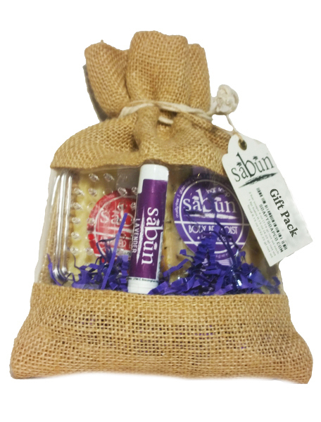 Holiday Gift Pack of Bar Soaps and Lip Balm by Soapy Soap Company - Front View Photo