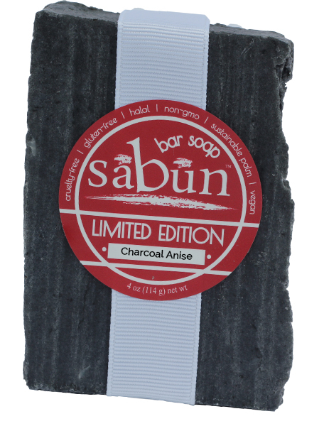 Sabun Limited Edition-Charcoal Anise bar soap - Front View - by Soapy Soap Company