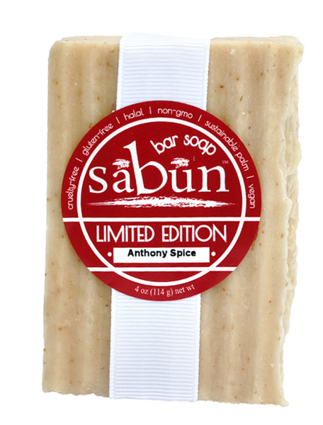 Sabun Limited Edition-Anthony Spice soap - Front View - by Soapy Soap Company