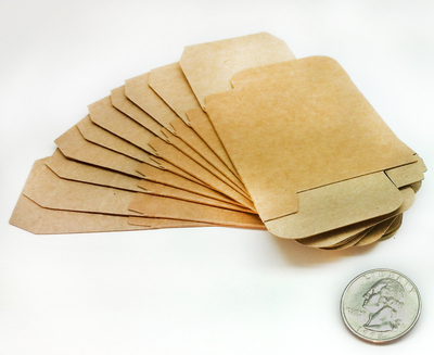 Small Sample Soap Box for Mini Soaps - Blank, Kraft (10 pack)