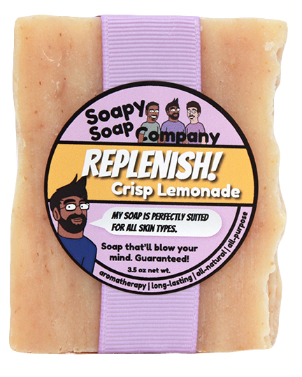 Replenish! - Crisp Lemonade Bar Soap Front