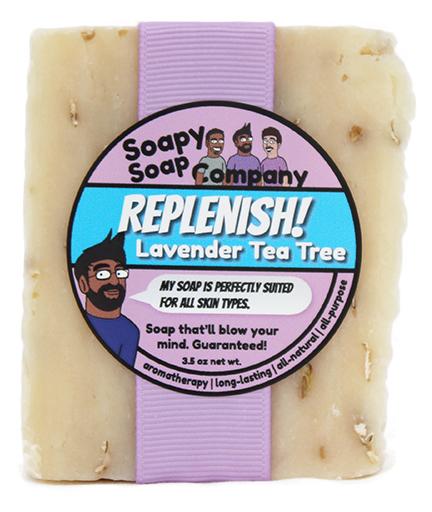 Replenish! - Lavender Tea Tree Bar Soap Front