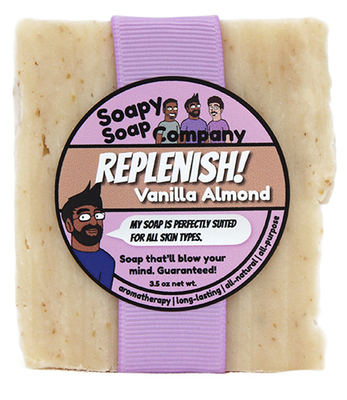 Replenish! - Vanilla Almond Bar Soap Front