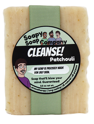 Cleanse! - Patchouli Bar Soap Front