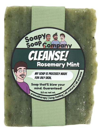 Cleanse! - Rosemary Mint Bar Soap Front