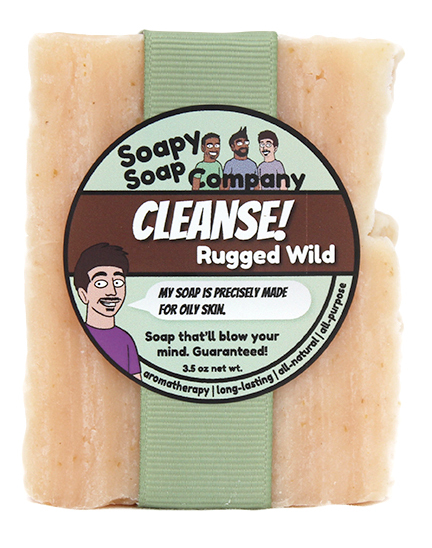 Cleanse! - Rugged Wild Bar Soap Front