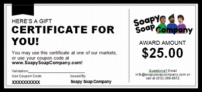 Soapy Soap Company Gift Certificate