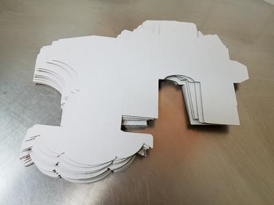 Gravity Fed Lip Balm Display Box (White) 10-bundle pack