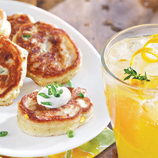 Corn Cakes With Goat Cheese And Bacon Recipes — Dishmaps