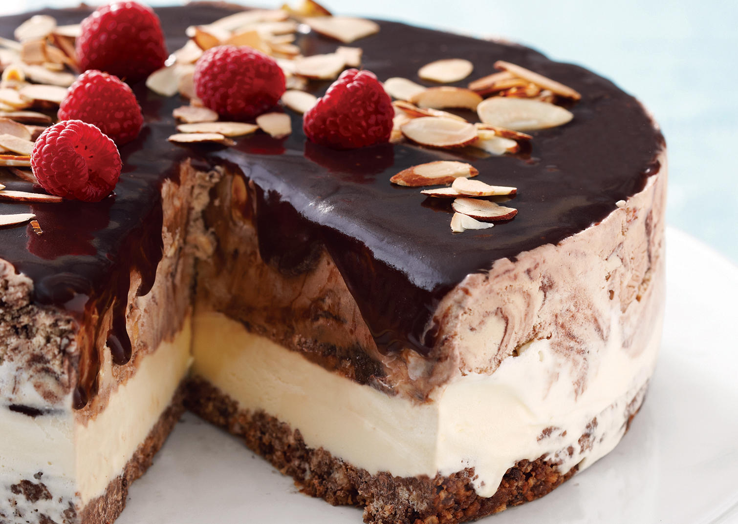 Fudgy Ice Cream Cake Recipe   Dishmaps