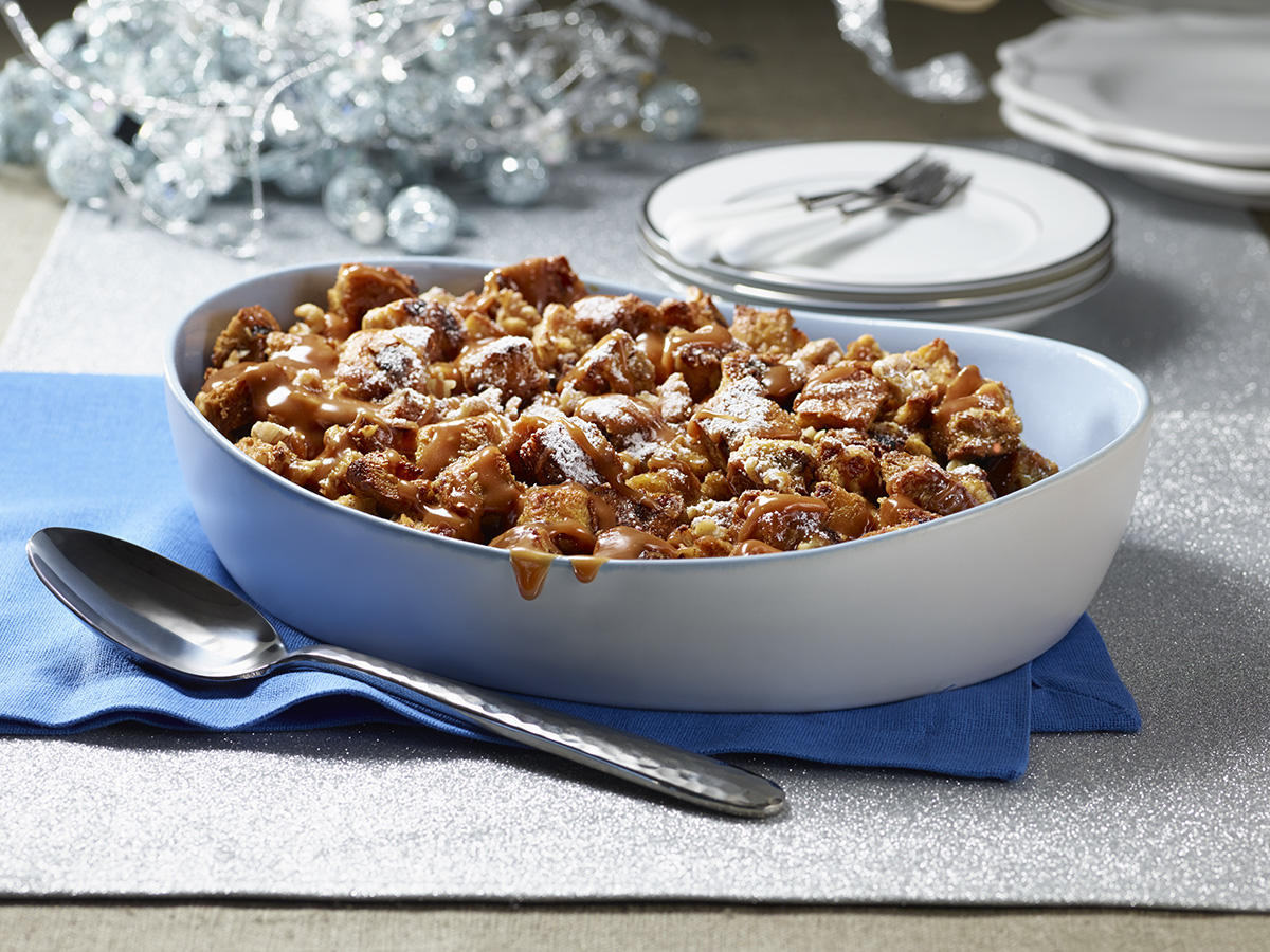 Sobeys | Walnut Bread Pudding with Vanilla Caramel Sauce