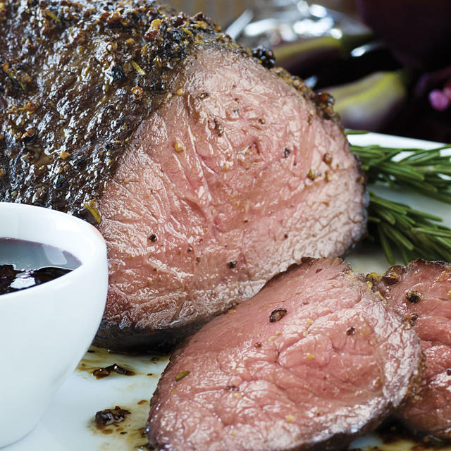 mustard-crusted beef tenderloin with red wine glaze ...